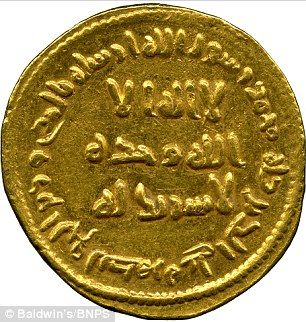 First Coin To Record Islamic Phrase There Is No God But Allah Expected To Sell In Set Of 56 Gold Dinars For 500 000 At Auction Ancient Coins Gold And Silver Coins Coins