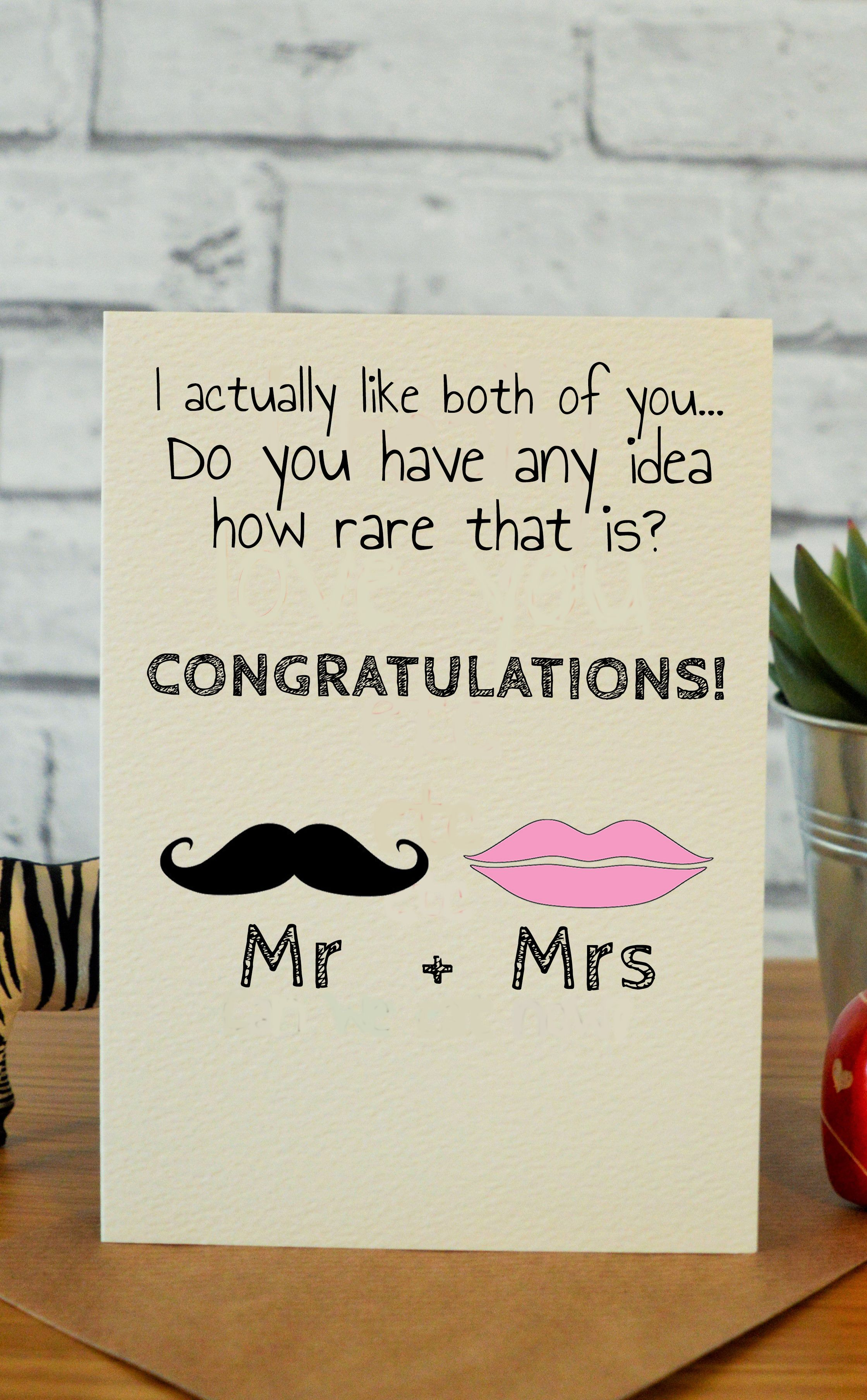 Mrs Mrs Pinterest Wedding Congratulations Card