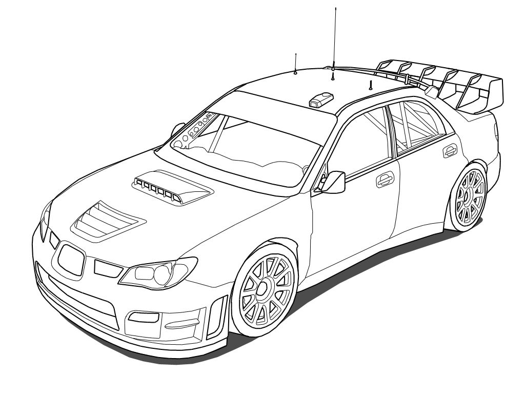 Line Drawing Vehicles : Subaru impreza sti wrc outline by outcastone viantart