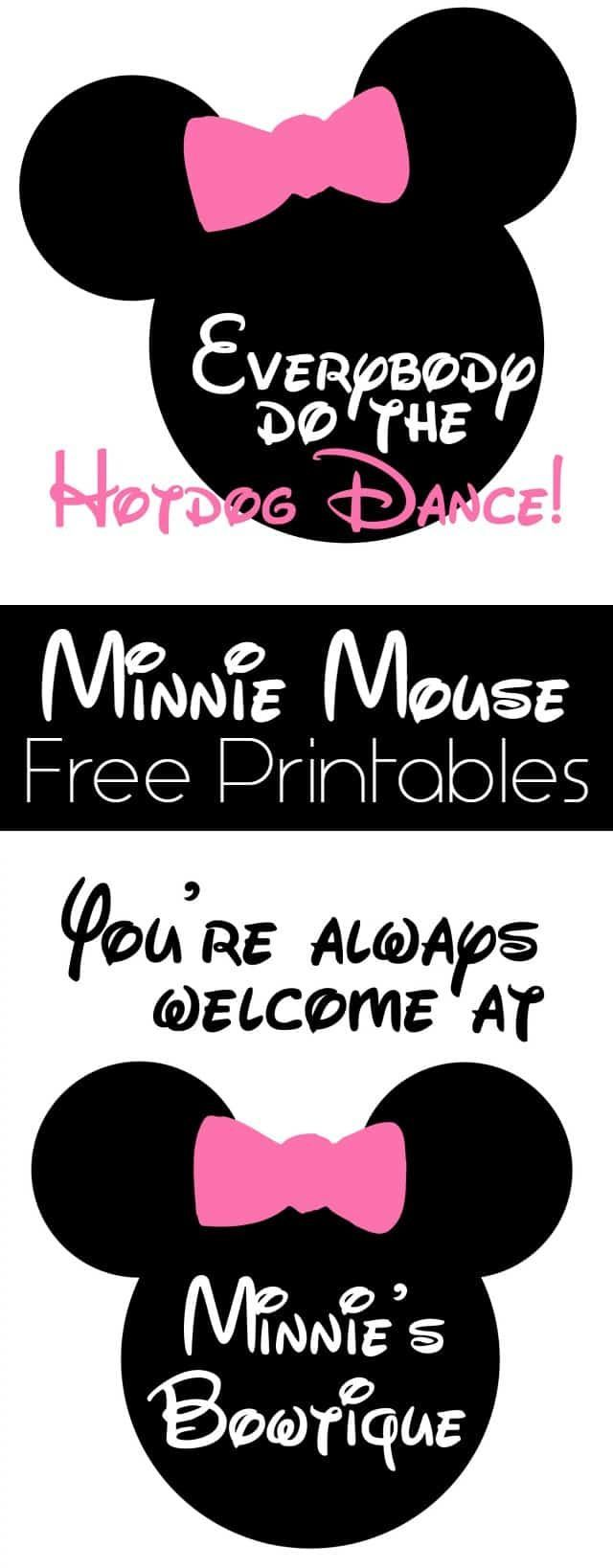 Minnie Mouse Birthday Party Details and Free Printables - Girl Loves Glam