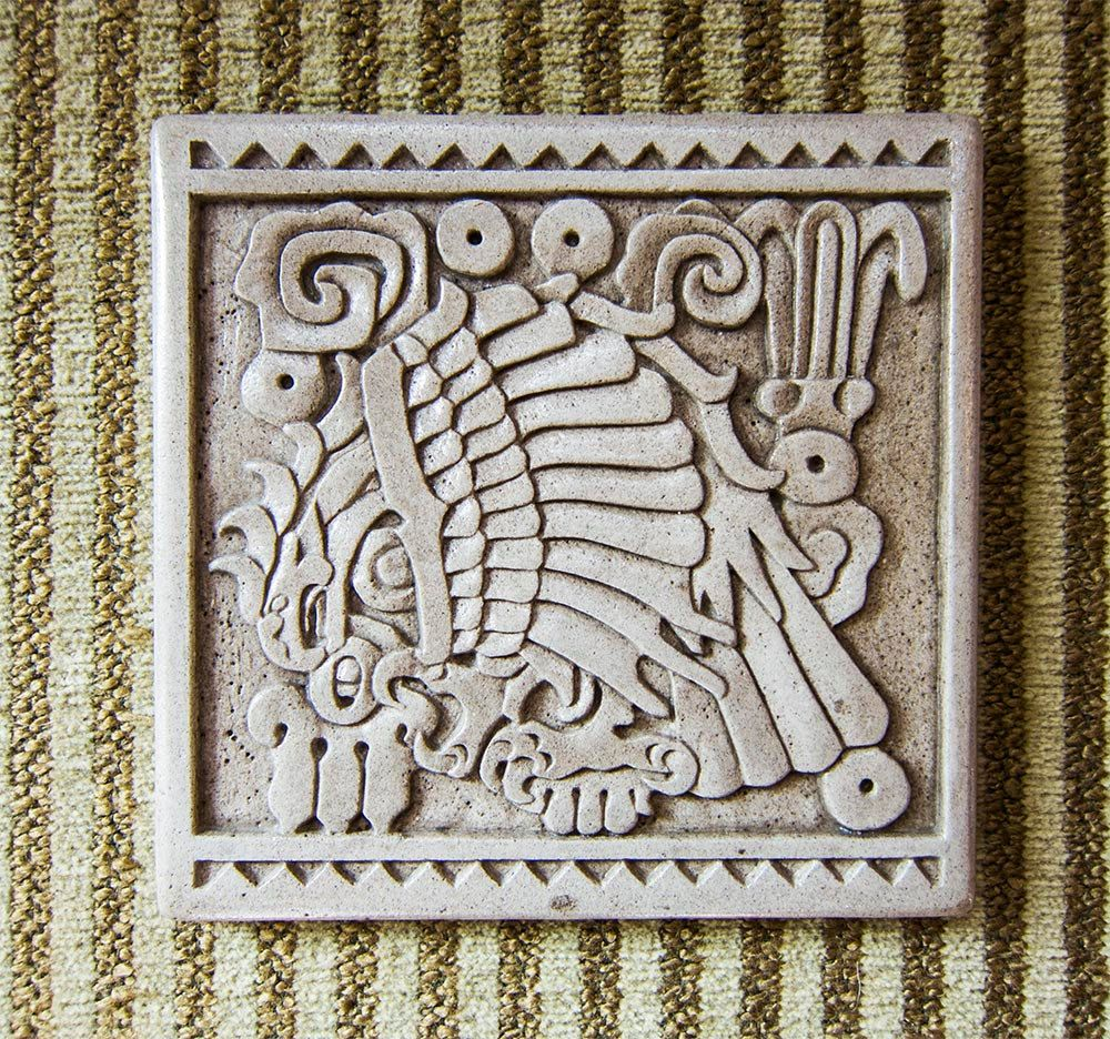 Aztec bas relief tile via etsy and my friend jeff buy