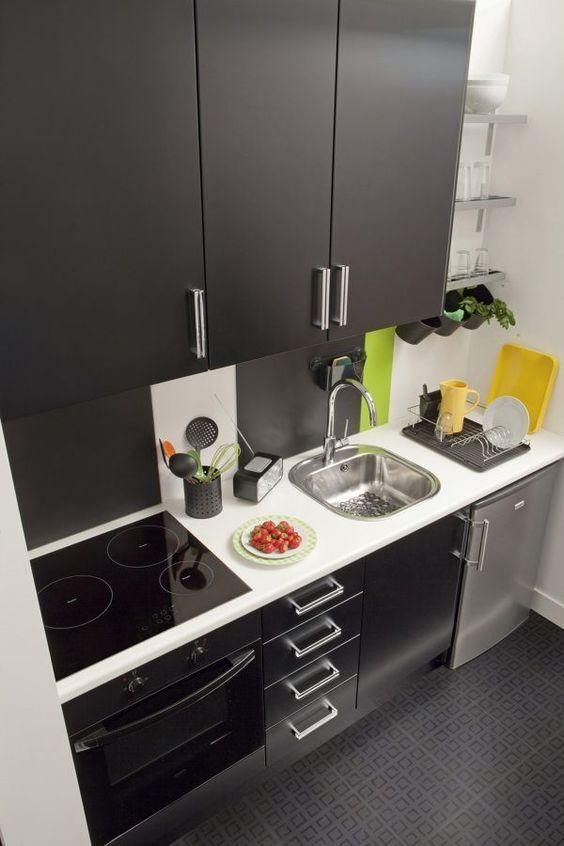 Cocinas pequeñas modernas 2018 | Cocinas modernas espacios pequeños ...
