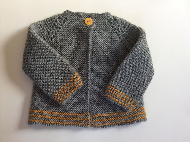 9d69709dfaa88c Ravelry  Top Down Garter Stitch Baby Jacket pattern by Nancy Elizabeth  Munroe