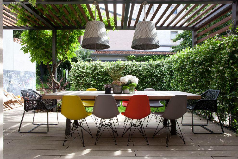 Sedie Per Sala Da Pranzo Moderne Contemporaneo Terrazzo E Balcone ...