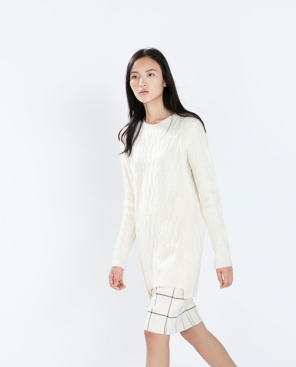 ZARA - レディース - 段差入り裾デザイン縄編みセーター