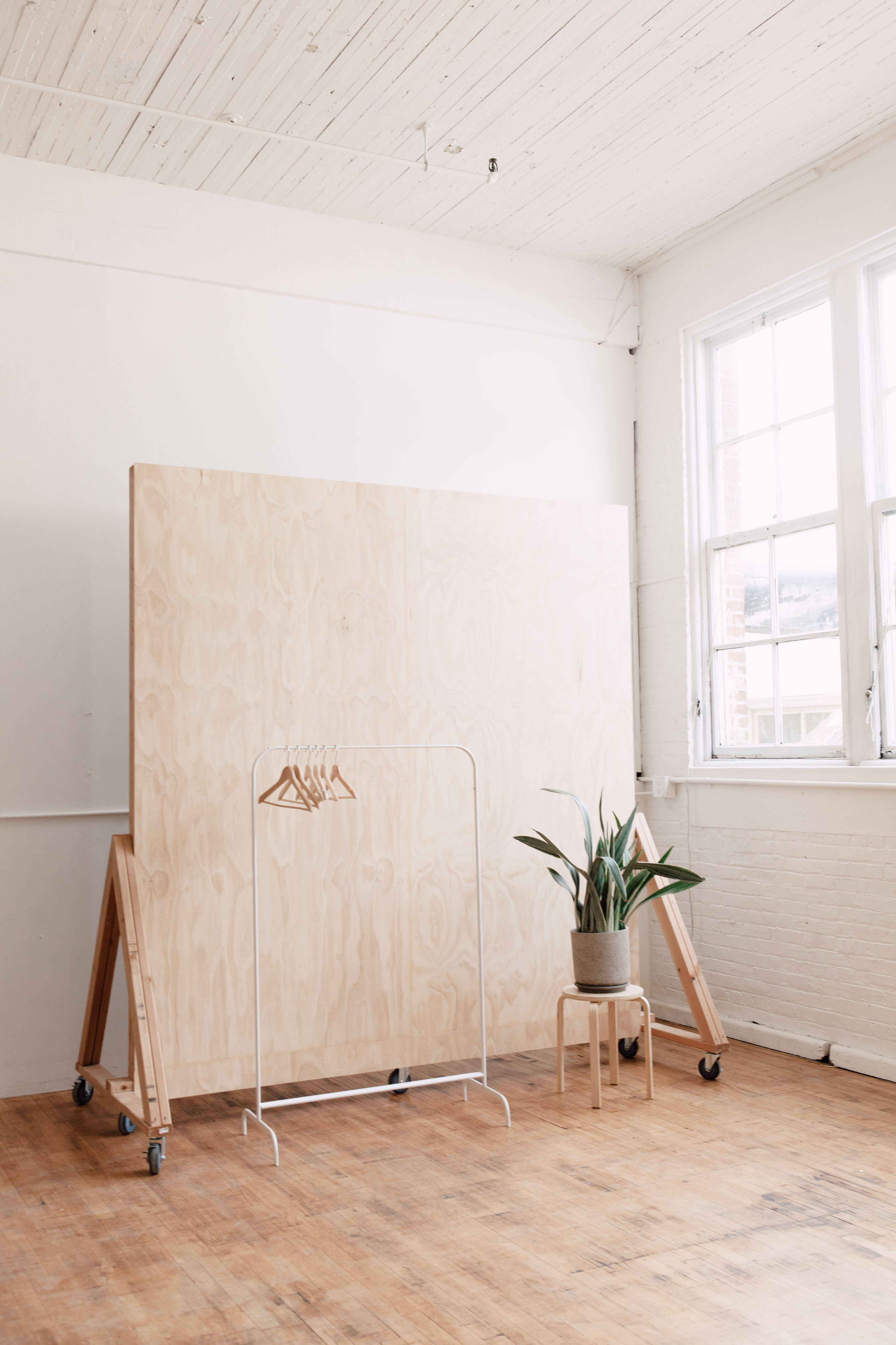 Our new plywood backdrop wall! The Portland Studio is in Portland ...