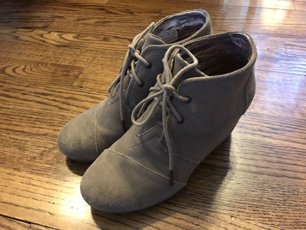6f2072f56a0f TOMS WOMEN S TAUPE SUEDE WEDGE DESERT BOOTIES BOOTS SIZE 7 M  fashion   clothing  shoes  accessories  womensshoes  boots (ebay link)