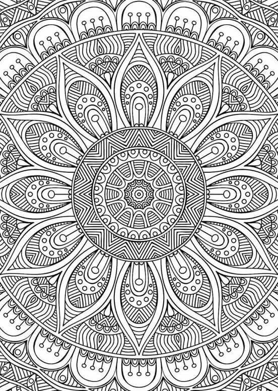 Didzioji Mandalu Knyga Mandala Coloring Pages Mandala Coloring