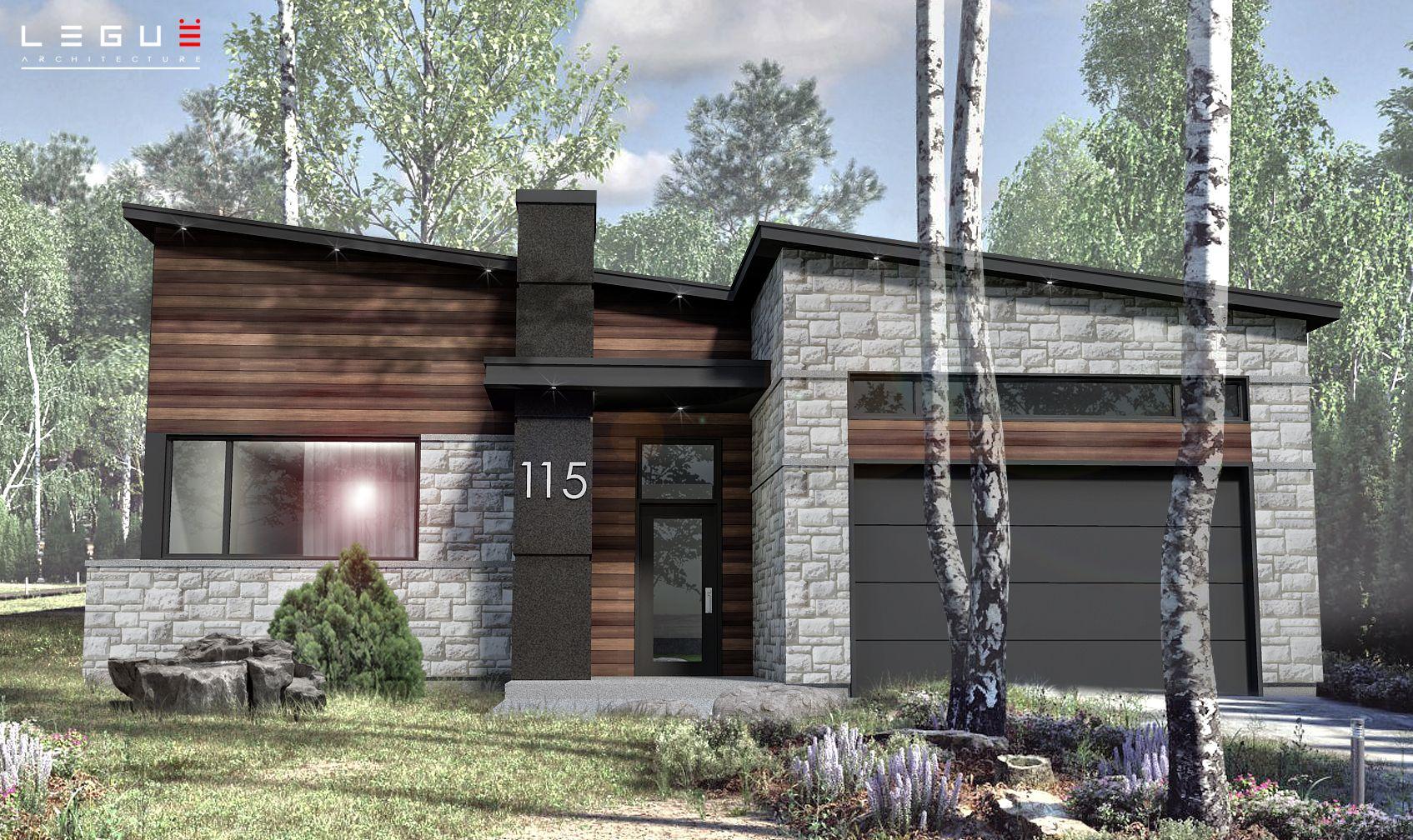 Notre Plan De Maison Moderne Ë_115 Est Vendu Directement En Ligne Et Est  Déjà Réfléchi Selon