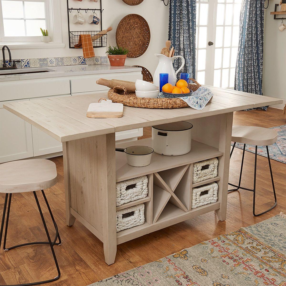 Crosley Drop Leaf Kitchen Island Kitchen Island Furniture Apartment Kitchen Island Kitchen Island Dining Table