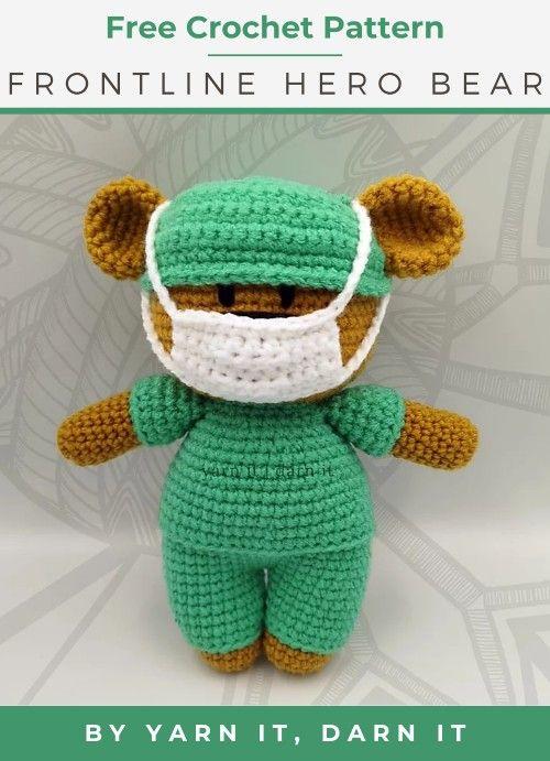 Frontline Hero Handmade crocheted
