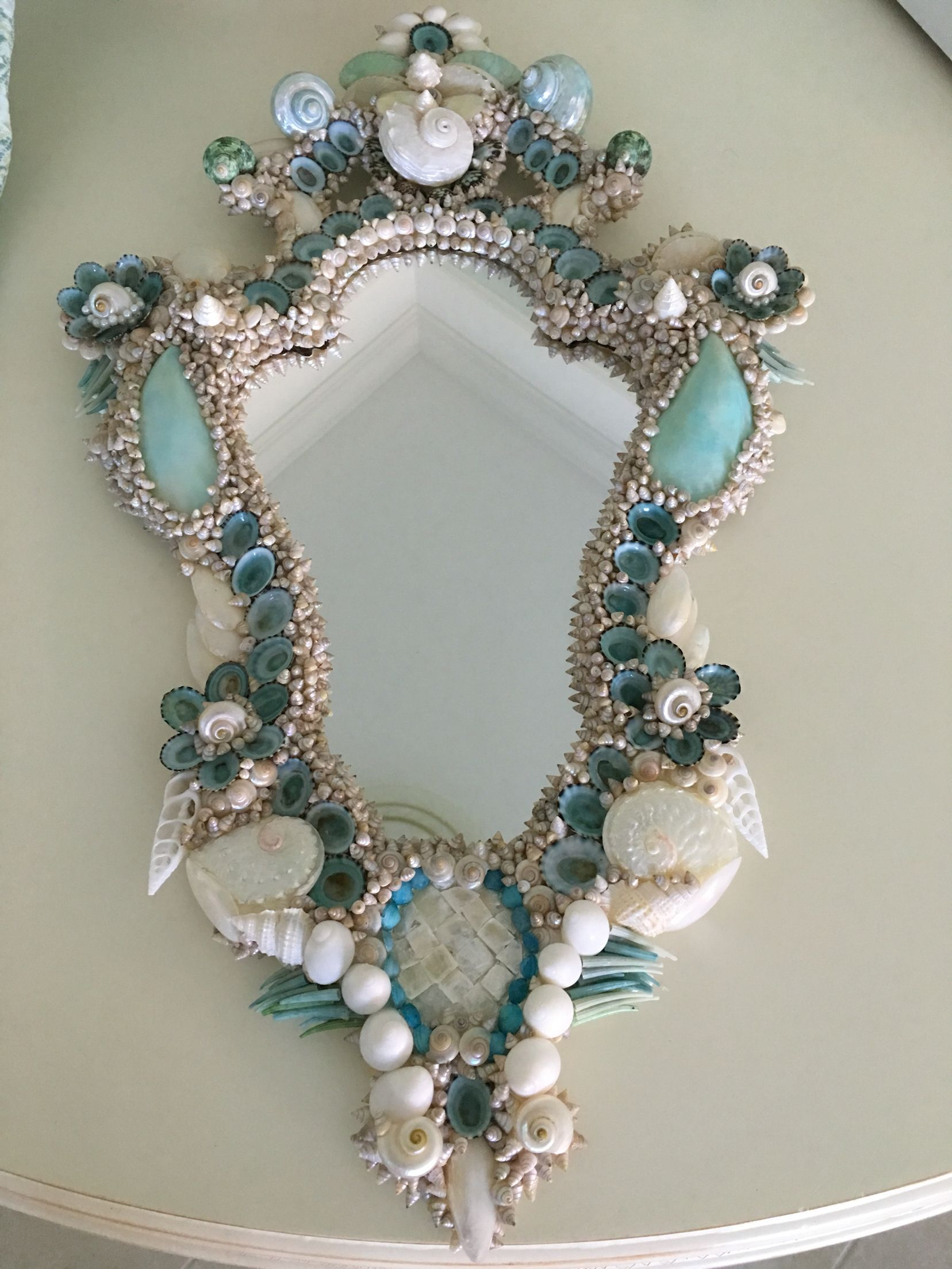 My 2nd place mirror, Sanibel Shell Show | Marcos de espejos ...