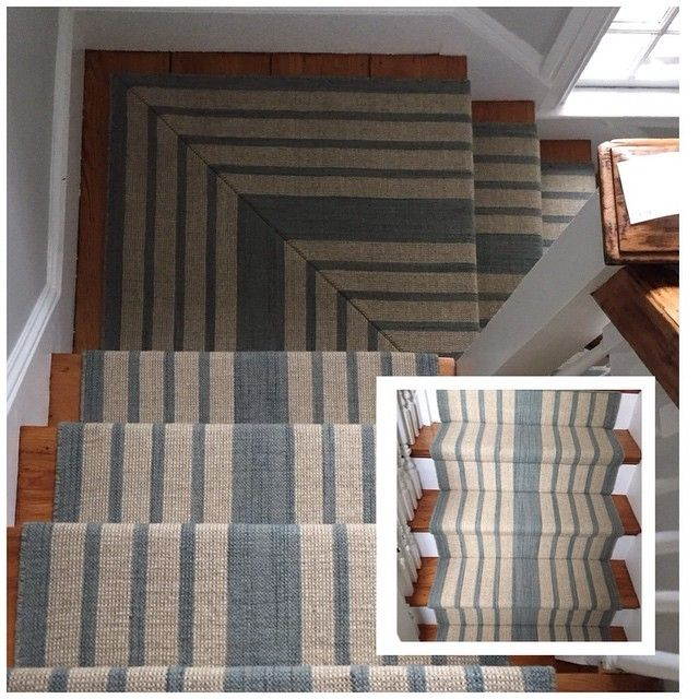 Spectacular Seaglass Stripe Stairs Installed Dash And Albert Wool