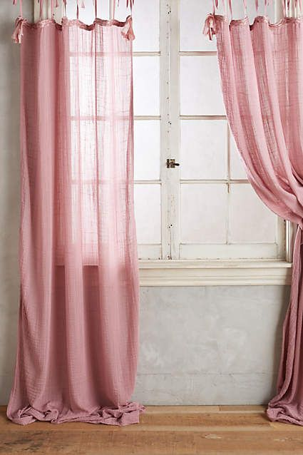 Cotton Tie Top Curtain Anthropologie