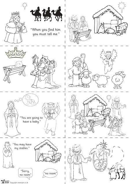 Birth of Jesus story | Nacimientos para colorear y montar ...