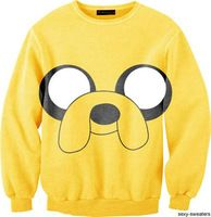 EAST KNITTING G27 New 2014 Fashion Harajuku 3D Jake The Dog Print Women Sweatshirt Men's Funny Hoodies Cute Yellow Pullove