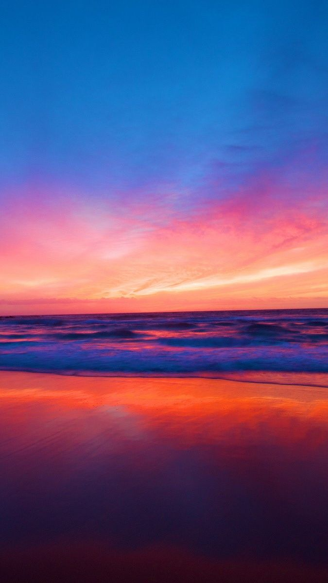 Sunset Beach Ocean Iphone Wallpaper In 2019 Iphone