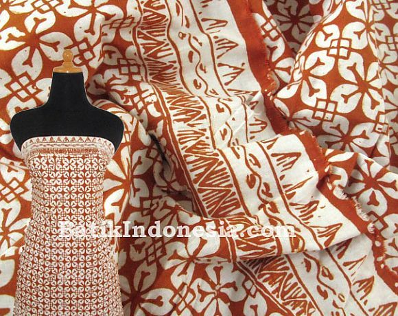 Kain Batik Cap Tasik Motif Seroja  Batik in Style  Pinterest