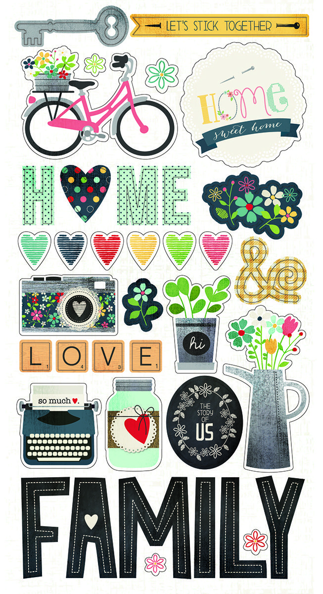 Simple Stories Homespun Chipboard Stickers Stickers And Such
