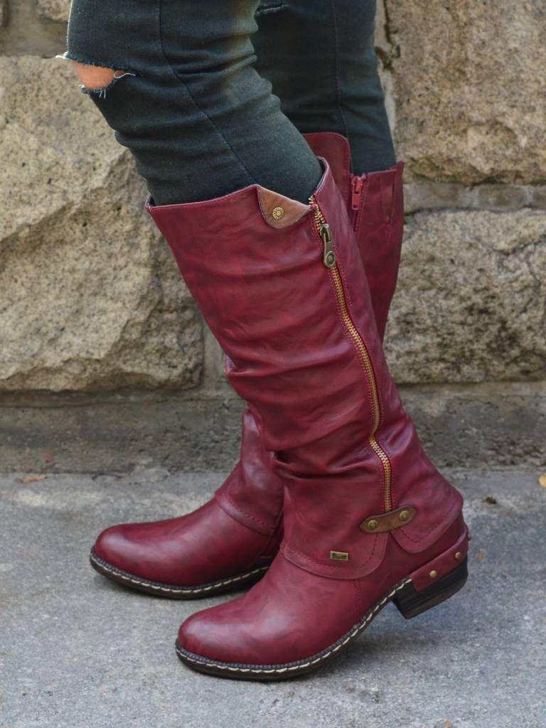 1d5b3f5f0d0d5 Womens Western Cowboy Knee Boots Punk Boots – lalasgal