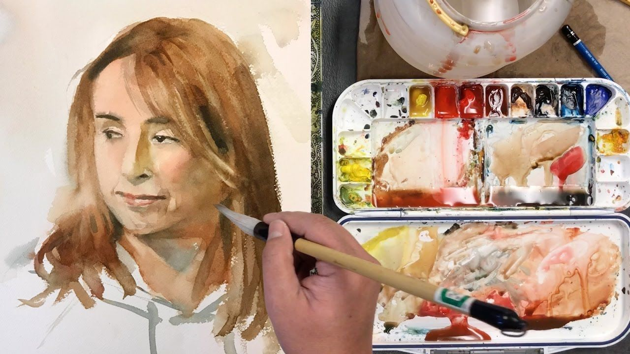 How To Paint A Female Face In Watercolor Full Version Lesson