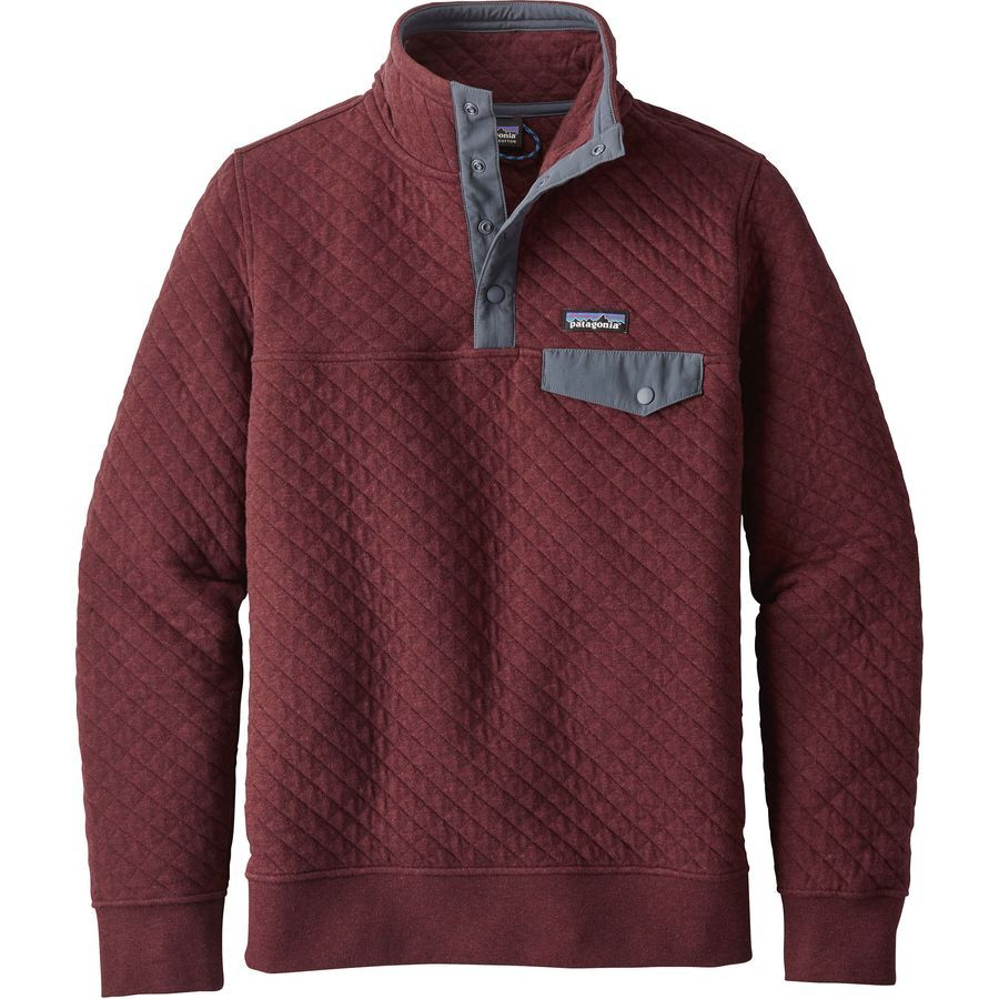 Patagonia Cotton Quilt Snap T Pullover Sweatshirt