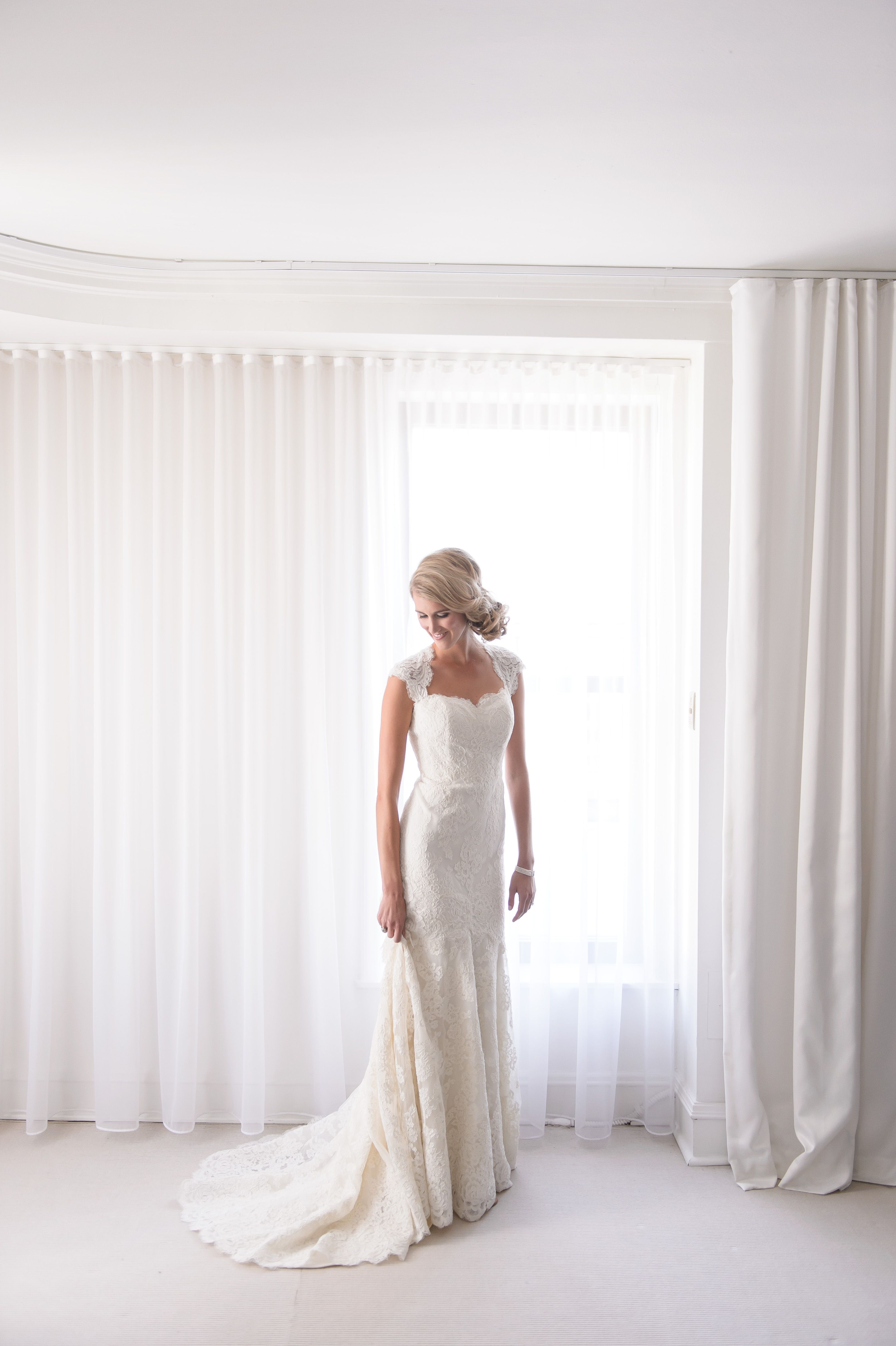 Anne Barge Wedding Dress With Cap Sleeves Real Wedding Featured On The Knot The Bride Was Married Anne Barge Wedding Dresses Wedding Dresses Elegant Wedding