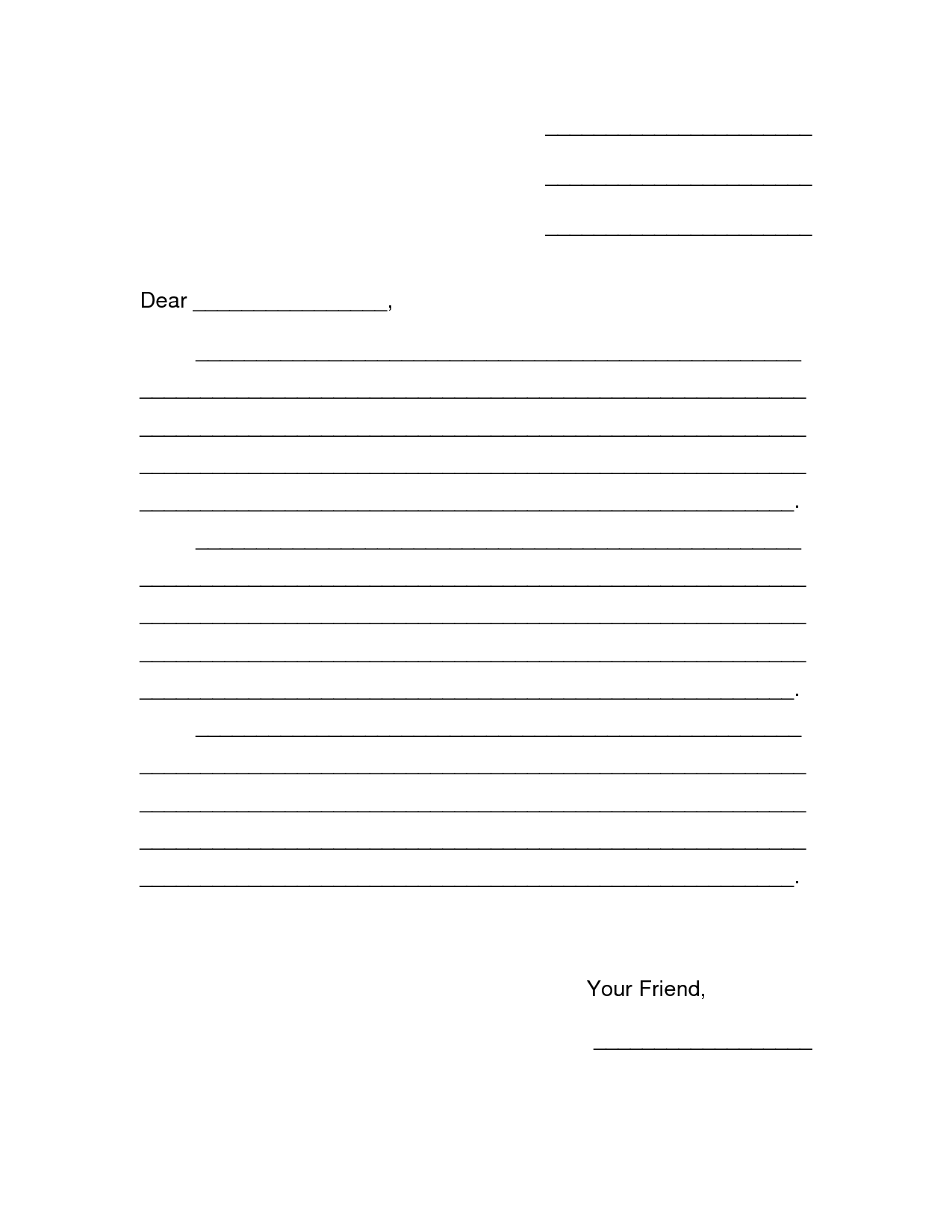 Letter Template For Kids Eapkbpah