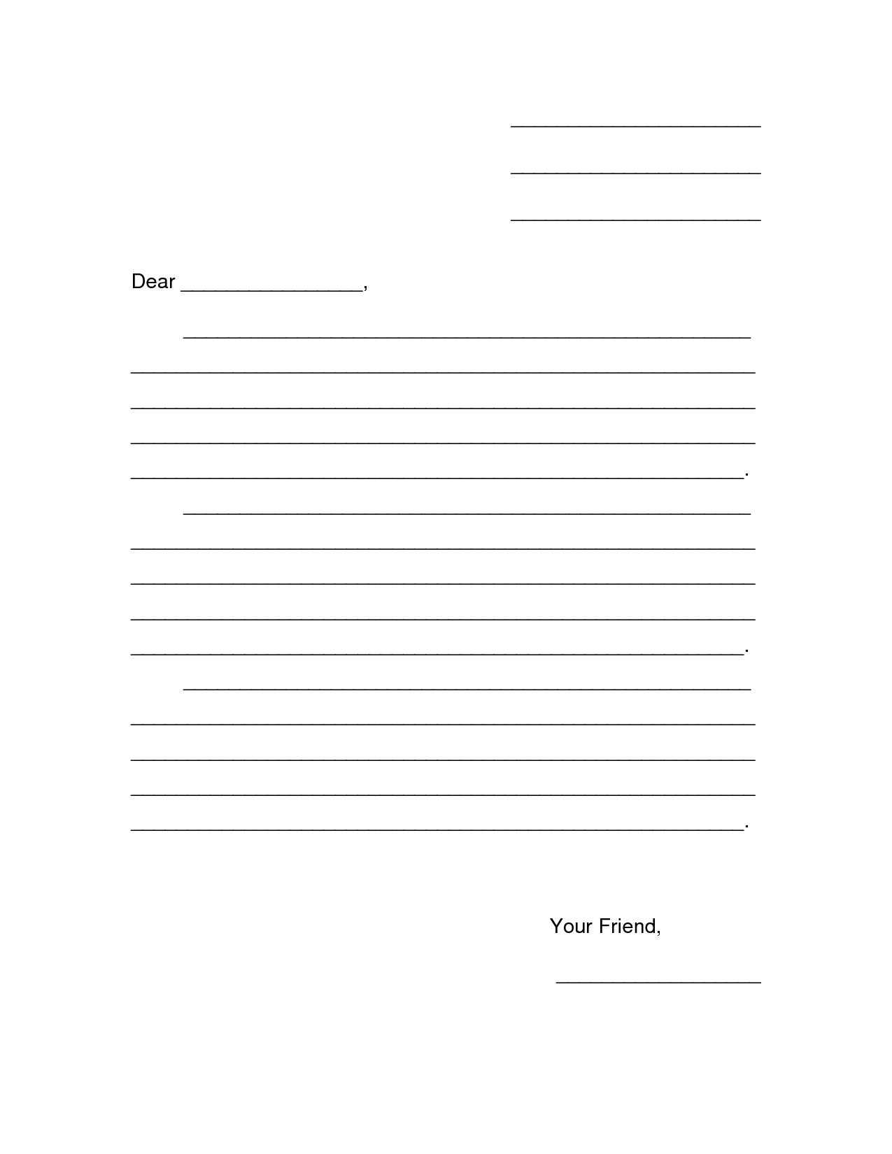 Letter Template For Kids Eapkbpah