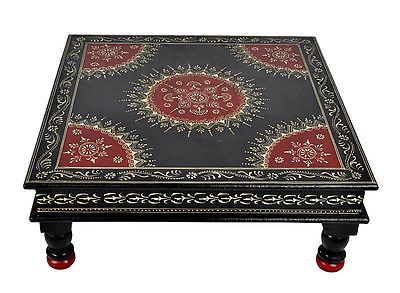 Indian wooden furniture corner table coffee low chowki antique side indian wooden furniture corner table coffee low chowki antique side table 45cm watchthetrailerfo