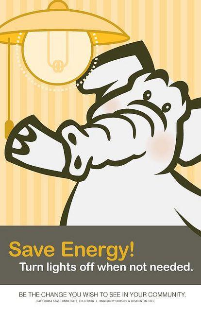 Poster Hemat Energi Jenis Politik Hemat