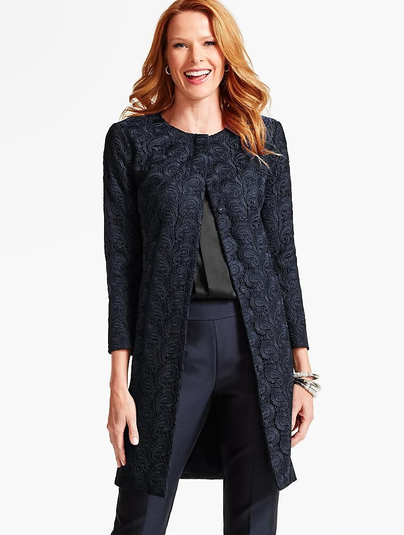 Dancing Paisley Lace Topper - Talbots