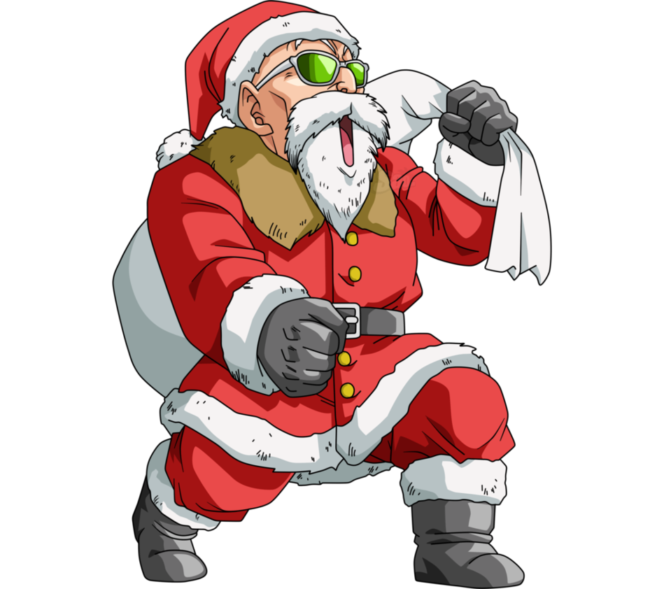 Dragon Ball Super Christmas Wallpaper: Maestro Roshi - Santa Claus By SaoDVD