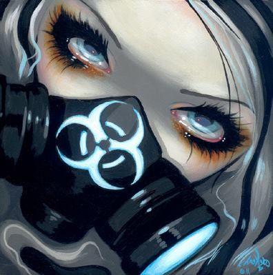Jasmine Becket-Griffith Art SIGNED Pair of 6x6 FoF Prints Biohazard Fairies Set