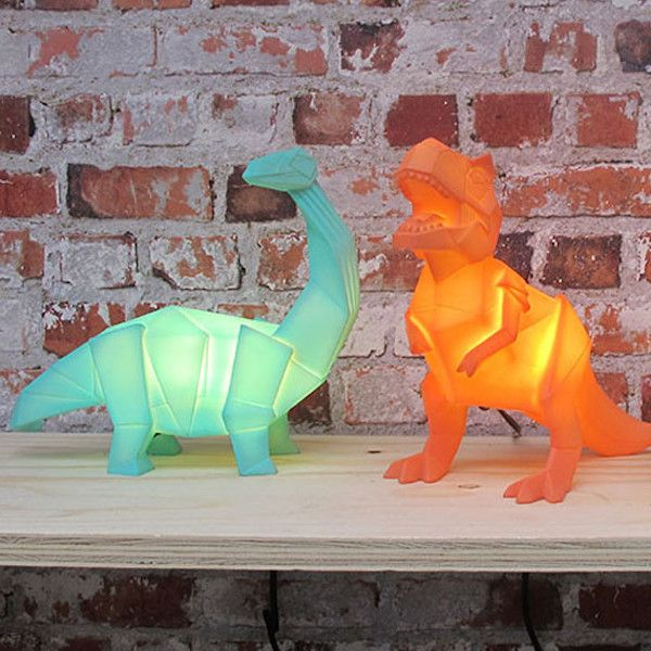 Orange Origami T Rex Dinosaur Lamp Design Amp H 229 Ndverk
