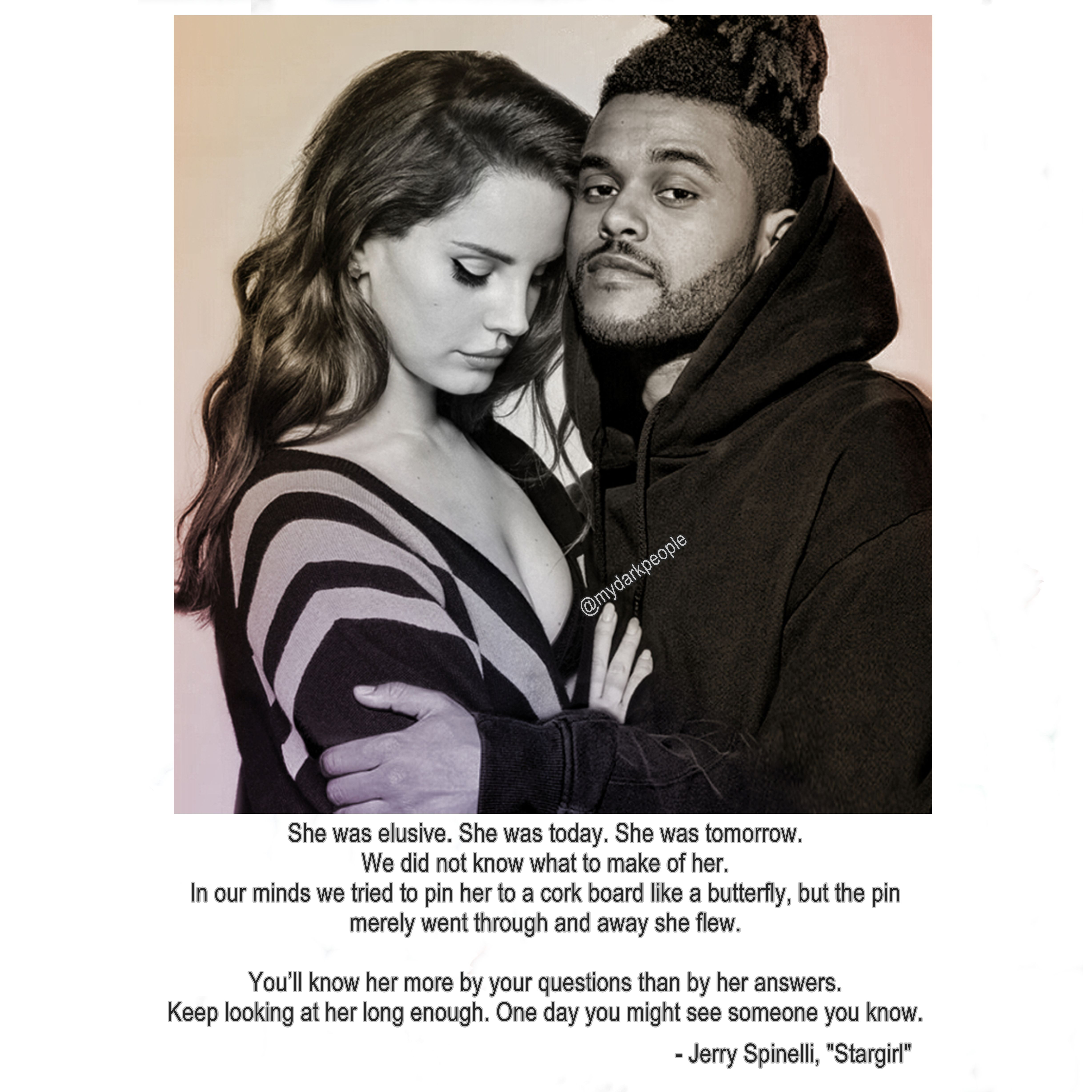 is lana del rey dating the weeknd Lana del rey fans are really pissed about this selena gomez tweet  oh, and she's dating abel 'the weeknd' tesfaye.