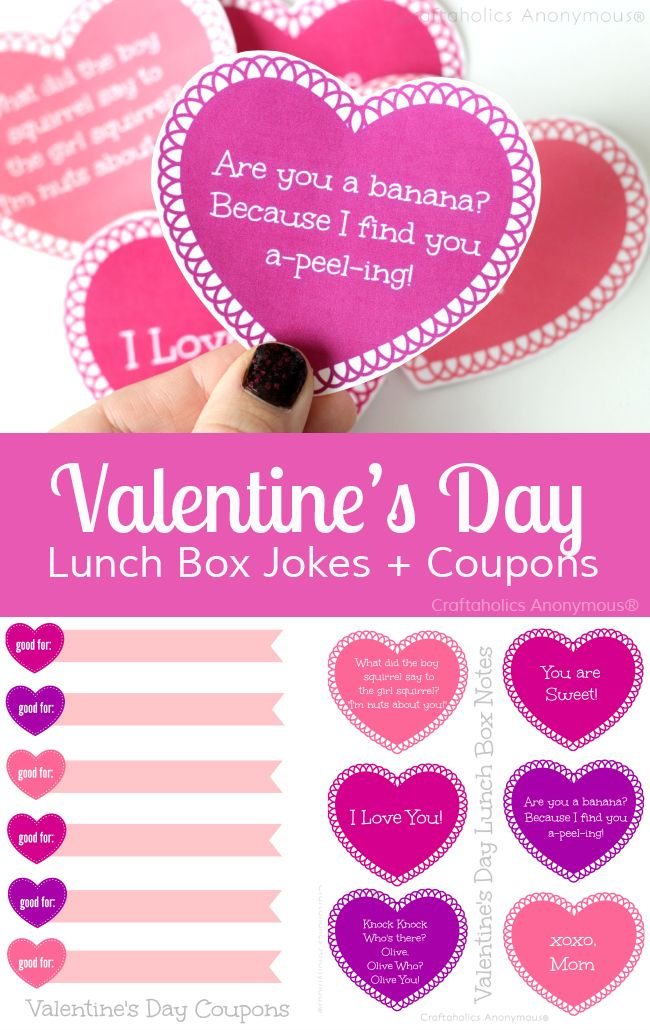 Printable Valentines Day Lunch Box Notes And Jokes Best Of