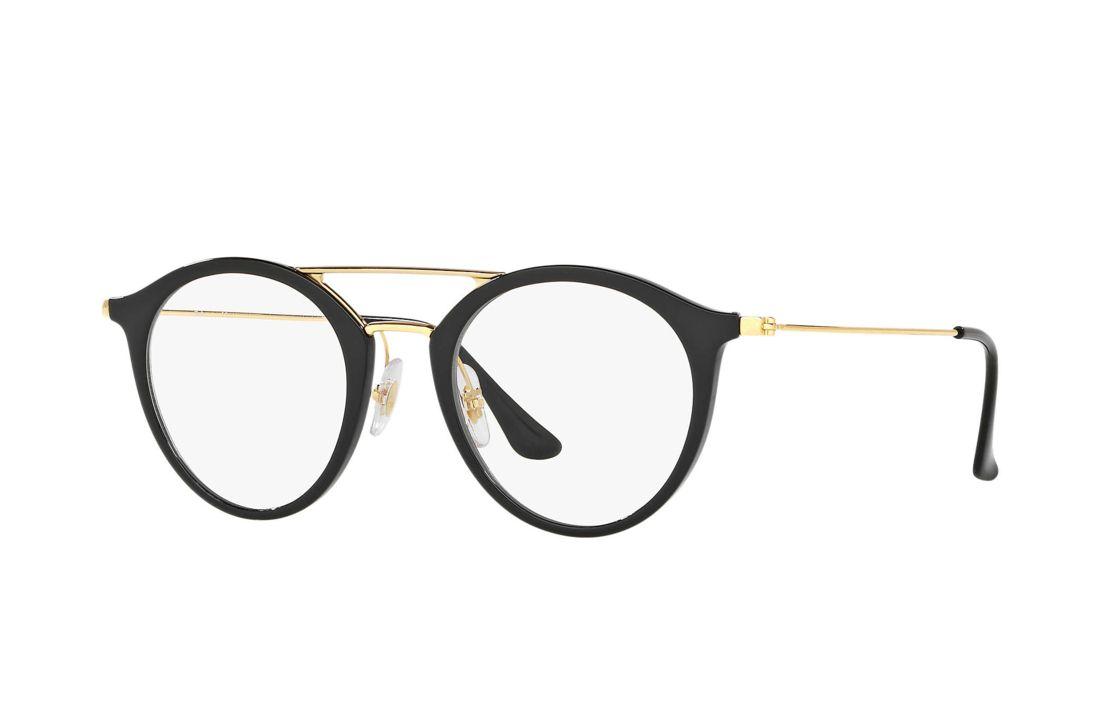 Oculos De Grau Ray Ban Rb7097 Preto Em 2020 Armacoes De Oculos