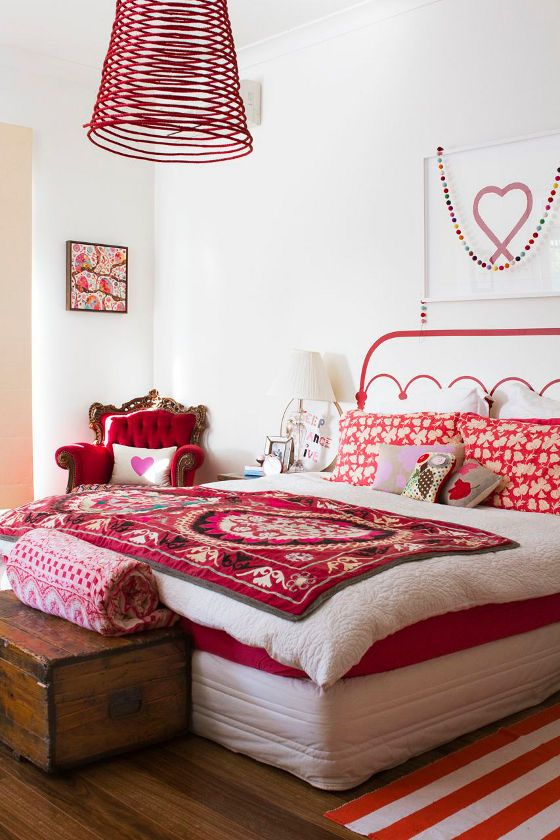 Fun Bedroom Design So Colourful Red Bedroom Red Home Red Decor