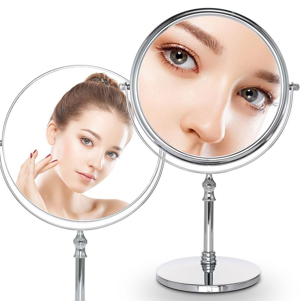 8 Inch Diameter 10x Magnifying Makeup Mirror Smooth 360 Degrees
