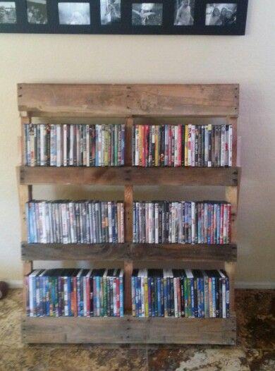 front of dvd pallet household pinterest pallets. Black Bedroom Furniture Sets. Home Design Ideas