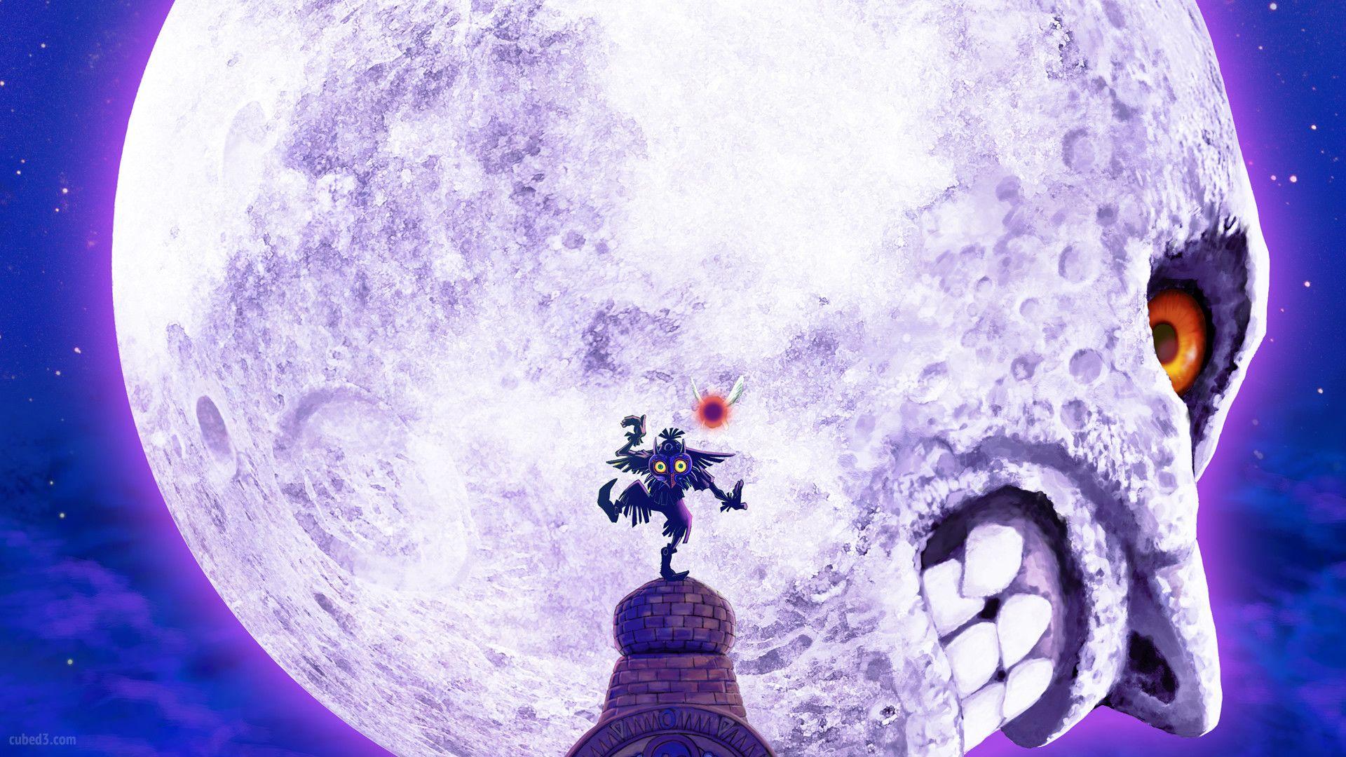 Majorasmask Zelda Skull Kid Moon 3ds Desktop Wallpaper Majoras Mask