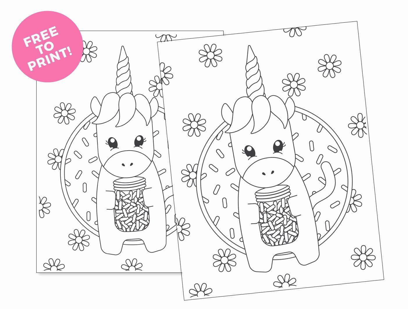 Spring Flowers Coloring Pages Printable in 2020 Unicorn