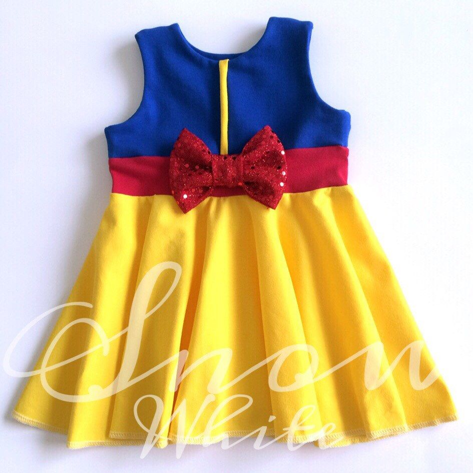 01f0d9a9a9 Snow White Inspired Disney Princess Girl s Dress. Child