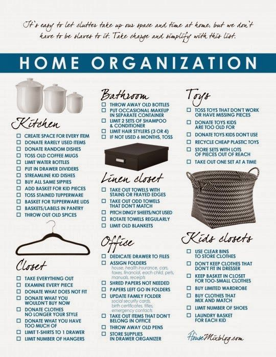 Creative Officewear Made Totally By Office Supply: Home Organization Schedule :: OrganizingMadeFun.com