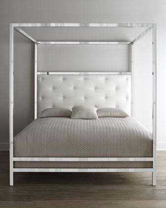 bed mirrored four poster bed mirrored bed with upholstered headboard
