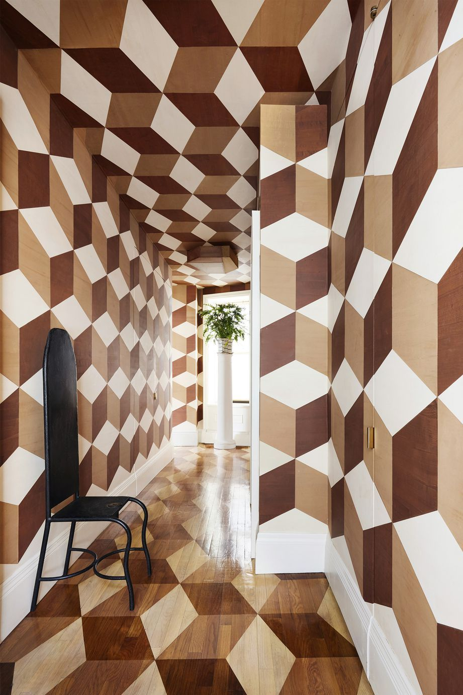 These Geometric Wall Ideas Are The Epitome Of Cool Decor Wall