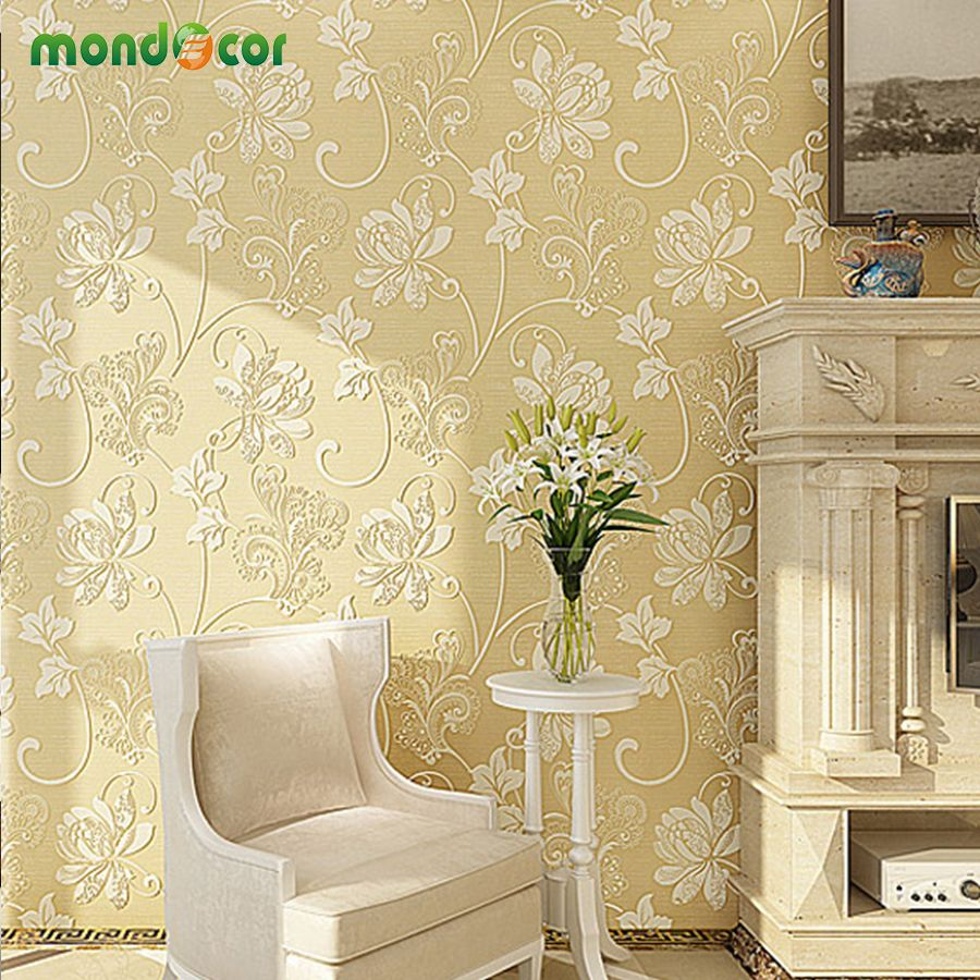 Mondecor 3D Non Woven Wallpaper Living room Bedroom TV Wall Paper ...