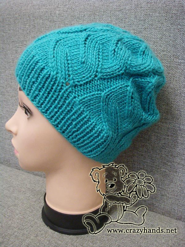 azure cable hat on the mannequin | Knit Hats | Pinterest | Gorros