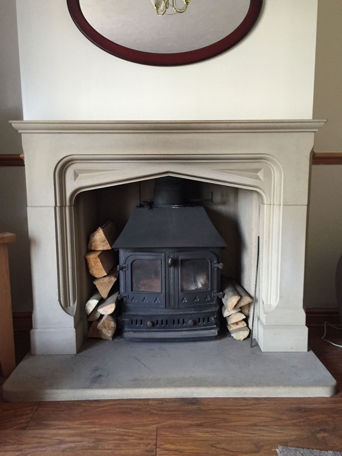 stone fireplace surround | eBay | Werstler pool pavilion ...